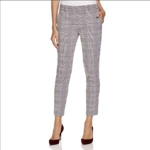 Theory Treeca CL brant check cropped pants